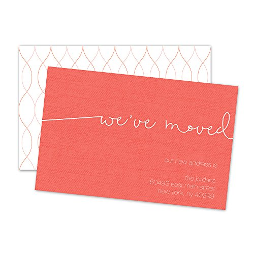 We Moved Personalized Moving Announcement - Pink (Moving Announcement Personalized)