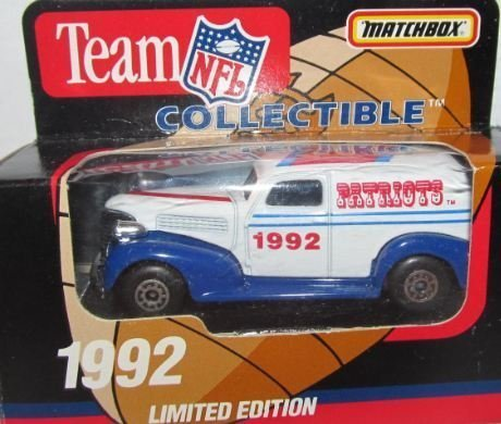New England Patriots 1992 NFL Diecast Sedan 1:63 Scale Collectible Limited Edition Football Team Car By White Rose Matchbox