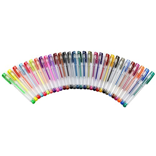: Gel pens,heartybay Great for Sketching, Drawing, Calligraphy, Including Glitter, Metallic, Pastel, Neon 30 Assorted Colors