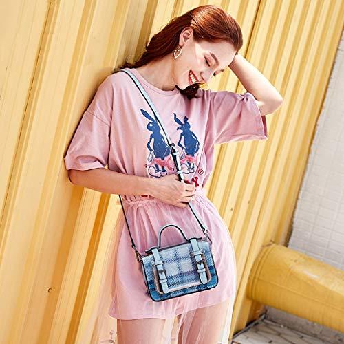 PU bandoulière femme Pink bandoulière à Sac pour pour pour transparent Lxf20 femme à à sac à Sac bandoulière Sac main XaqUHO