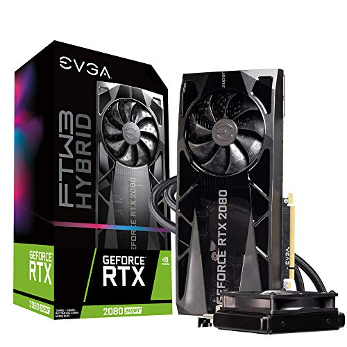 EVGA GeForce RTX 2080 Super Ftw3 Hybrid Gaming, 08G-P4-3288-KR, 8GB GDDR6, RGB LED Logo, iCX2 Technology, Metal Backplate