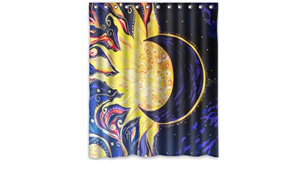Amazon Popular Design Sun And Moon Shower Curtain 60w X 72hGeneric Liners Home Kitchen