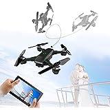 LUCKSTAR Mini Quadcopter - 2.4GHZ Remote Control UAV Aircraft Portable & Foldable RC Drone 3D Flip Quadcopter Headless Helicopter UAV - Cool Boys / Kids Toy (Black)