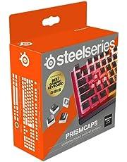 SteelSeries PrismCaps – Tweevoudig gegoten Pudding-Style keycaps – Duurzaam thermoplastisch PBT – Compatibel met de meeste mechanische toetsenborden – MX-verbindingen – Zwart (Britse indeling)