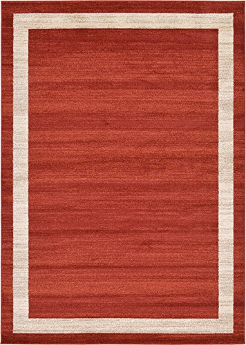 Oriental Terra Cotta (Over-dyed Modern Vintage Rugs Terracotta 7' x 10' FT Palma Collection Area Rug - Perfect for any Place)