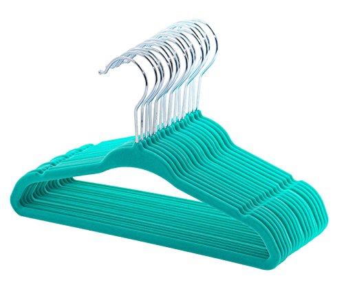 Skirt Velvet Kids ( ESYLIFE Baby Velvet Hangers Non Slip Toddlers Clothes Hanger - 30 Pack Teal Color)