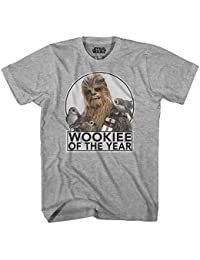 Chewbacca Wookiee of the Year Chewie The Last Jedi Movie Porgs Funny Humor Pun Adult Men's Graphic Tee T-Shirt Apparel