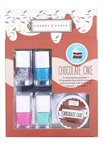Essential Cute Cherry Chree Nail Polish Gift Set (Chocolate cake) (Cute Halloween Cakes Birthday)