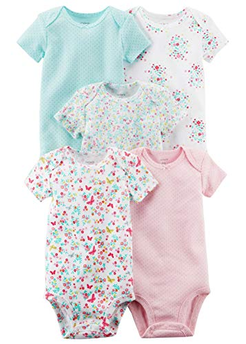 (Carter's Baby Girls' 5 Pack Floral Bodysuit Set 12 Months, Multi Floral)
