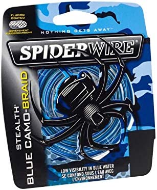 Spiderwire Stealth Smooth 8 Blue Camo 300m Braided line Made in US NEW 2019