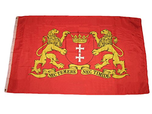 ALBATROS 3 ft x 5 ft City of Danzig Germany German Rough Tex Knitted Premium Flag Grommets for Home and Parades, Official Party, All Weather Indoors Outdoors ()
