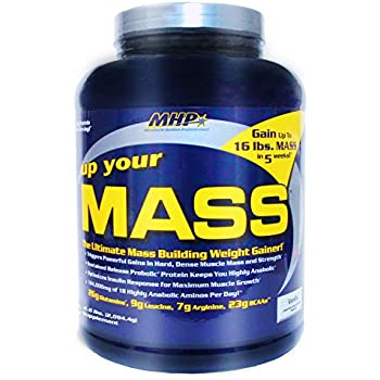 MHP, Up Your Mass Weight Gainer, Vanilla, 4.6 Pound