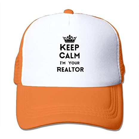 Keep Calm Im Your Realtor Mesh Gorras/Gorros de Camionero ...