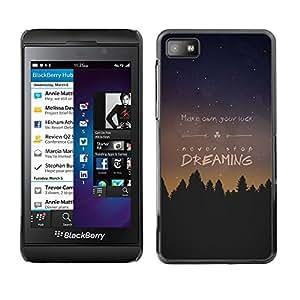 Dragon Case - FOR Blackberry Z10 - make own you luck - Caja protectora de pl??stico duro de la cubierta Dise?¡Ào Slim Fit