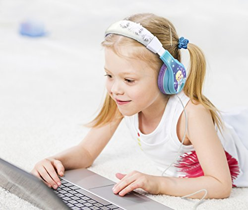 51sDiMAge%2BL - Frozen Headphones for Kids with Built in Volume Limiting Feature for Kid Friendly Safe Listening