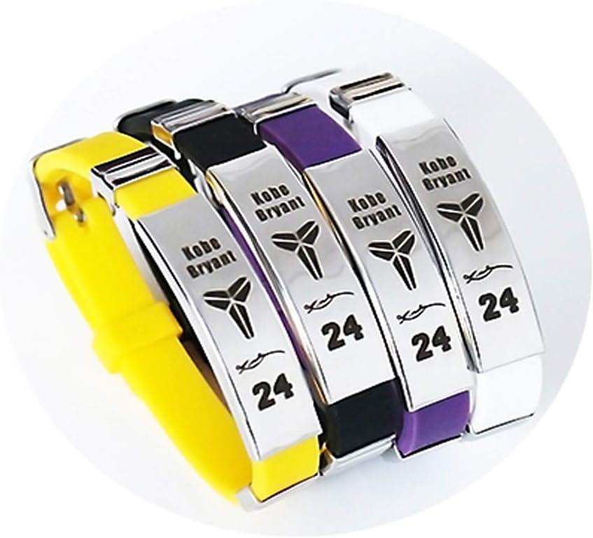 Brazalete Ajustable de Silicona de la Estrella del Equipo de Baloncesto de la NBA Pulsera Deportiva de Silicona 4 Piezas