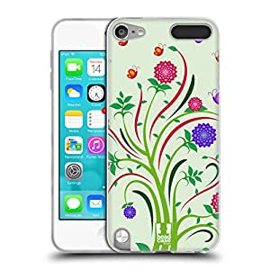 Head Case Designs Dahlia Blossom Vines and Flowers Soft Gel Back Case Cover for Apple iPod Touch 5G 5th Gen 6G 6th Gen