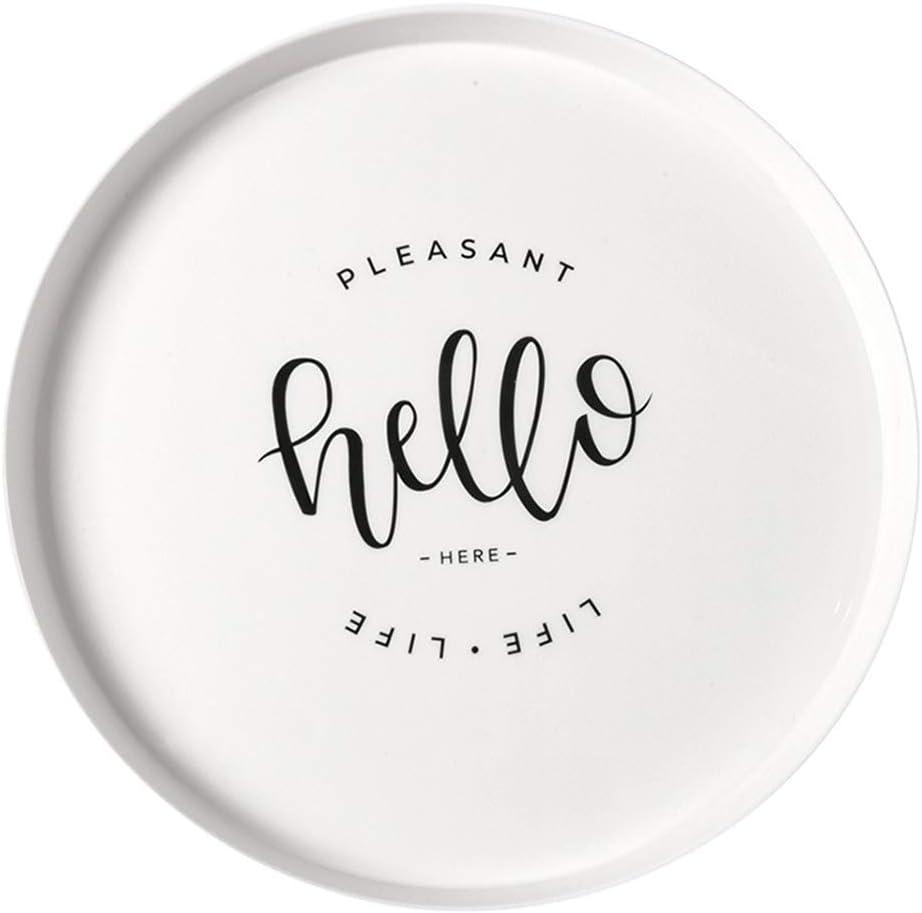 Etophigh Platos desechables redondos de plástico para desayuno Plato de postre para ensalada Bandeja de plástico Dim Sum Excelente para bodas, despedidas de soltera, cumpleaños