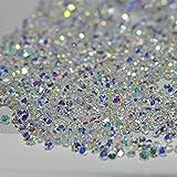 MOPRETTY 1440Pcs Mini Diamond Shining DIY Rhinestones Iridescent Crystals Need Glue Phone & Nail Art Decoration (AB Clear)