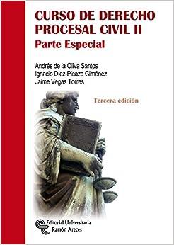 Book's Cover of Curso de Derecho Procesal Civil II: Parte especial (Manuales) (Español) Tapa blanda – 6 septiembre 2016