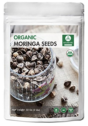 Approx 3000 Premium Quality Moringa Seeds - Organic and PKM1 without Wings - From India - By Naturevibe Botanicals (Packaging may vary)