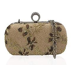 J&F Bolso De Las Mujeres Bolso De Noche Clutch Bag Billetera Embrague Bolsos De Mano: Amazon.es: Equipaje