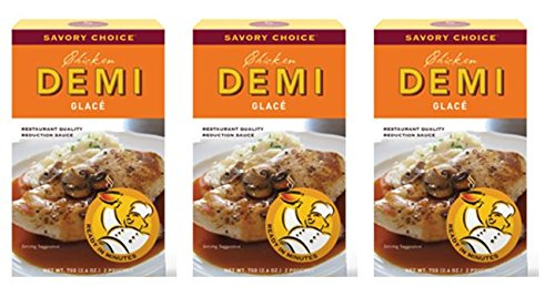 (Savory Choice Chicken Demi Glace Reduction Sauce Packet 75gr (Pack of 3))
