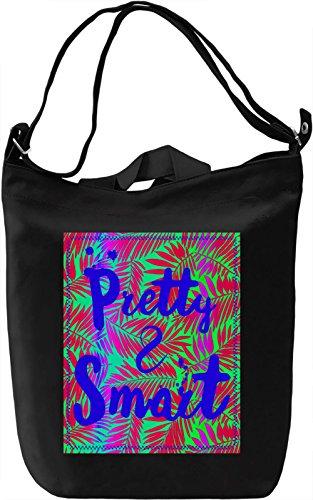 Pretty And Smart Borsa Giornaliera Canvas Canvas Day Bag| 100% Premium Cotton Canvas| DTG Printing|