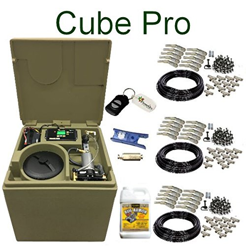 Cube PRO Pynamite Mosquito Misting System, small 26 inch cube still 55 gallons with 30 Nozzle Kit and FREE Misting Concentrate Misting Concentrate