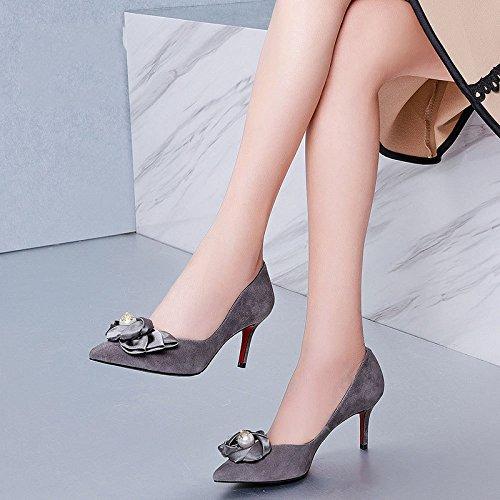 Mode Bouche des Femmes de Cuir Arcs Hauts DKFJKI pour à en des Chaussures Simples La Perles silver Chaussures Talons Slowow Tqw5P