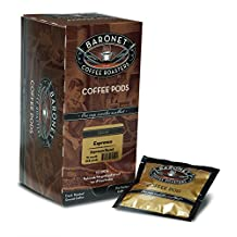 Baronet Coffee Single Decaf Espresso ESE Pods, 54 Count