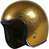 open face helmets for motorcycles - TORC T50 Route 66 Unisex Adult 3/4 Motorcycle Open Face Helmet with Solid Color  (Gold, Large)