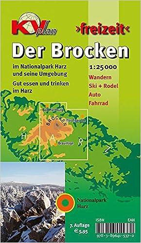 Brocken Nationalpark Harz 125000 Freizeitkarte Mit Wanderwegen