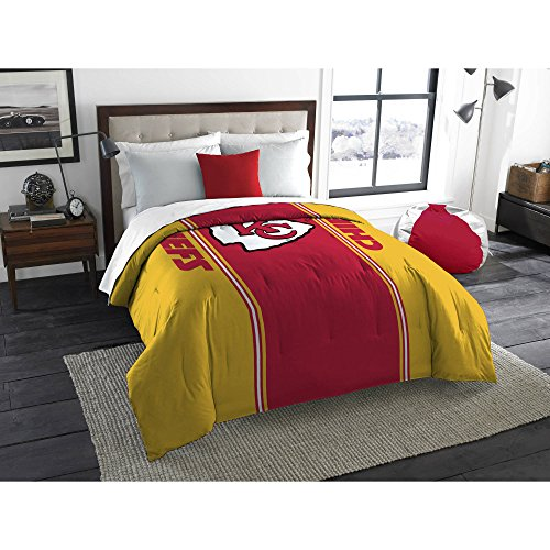 NFL Anthem Twin/Full Bedding Comforter Only, Kansas City Chiefs (Kansas Bedding City Chiefs)