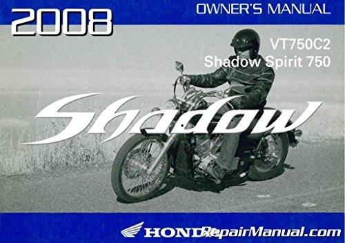 31MFE610 2008 Honda VT750C2 Shadow Spirit Motorcycle Owners -