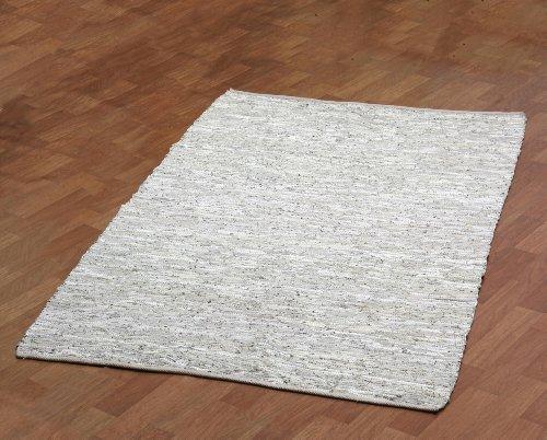 Cheap White Leather Matador 9'x12′ Rug