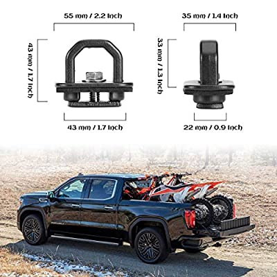 KAWELL 2 Pack Tie Down Anchors Truck Bed Side Wall Anchors Fits Chevy Silverado GMC Sierra Chevy Colorado GMC Canyon: Automotive