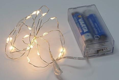 Weihnachtsbeleuchtung Basteln.10x Cbk Ms Lichterkette Led Drahtlichterkette Innen 20 Micro Leds
