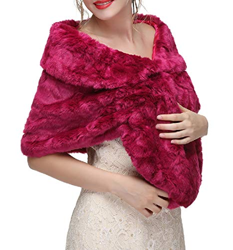 Decahome Wedding Faux Fur Wraps and Shawls Wedding for sale  Delivered anywhere in USA