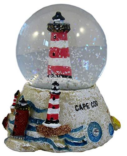 Massachusetts Maps Cape Cod Snow Globes (Light House)