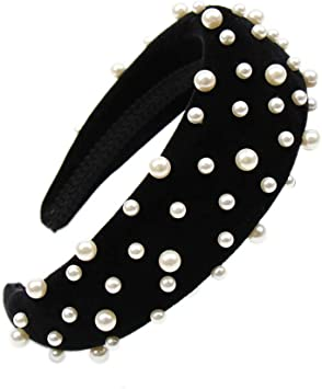 Interminable Sanción ella es  Diademas acolchadas anchas y gruesas de terciopelo para mujer, con perlas,  para el pelo de los años 90, accesorios para el pelo, estilo retro,  elegante, BK-24, 5inch: Amazon.com.mx: Salud y Cuidado Personal