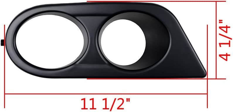 Matte Black - Double Hole Astra Depot Left /& Right Front Bumper Lower Fog Light Cover Compatible with 2001-2006 E46 M3