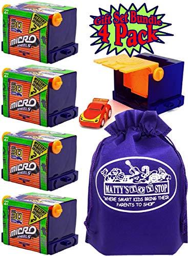 - Micro Wheels Mini Motorized Machines Mystery Vehicles with Bonus Matty's Toy Stop Storage Bag - 4 Pack