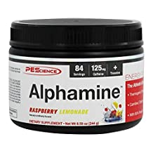 PEScience - Alphamine Energy Powder Raspberry Lemonade - 8.59 oz.