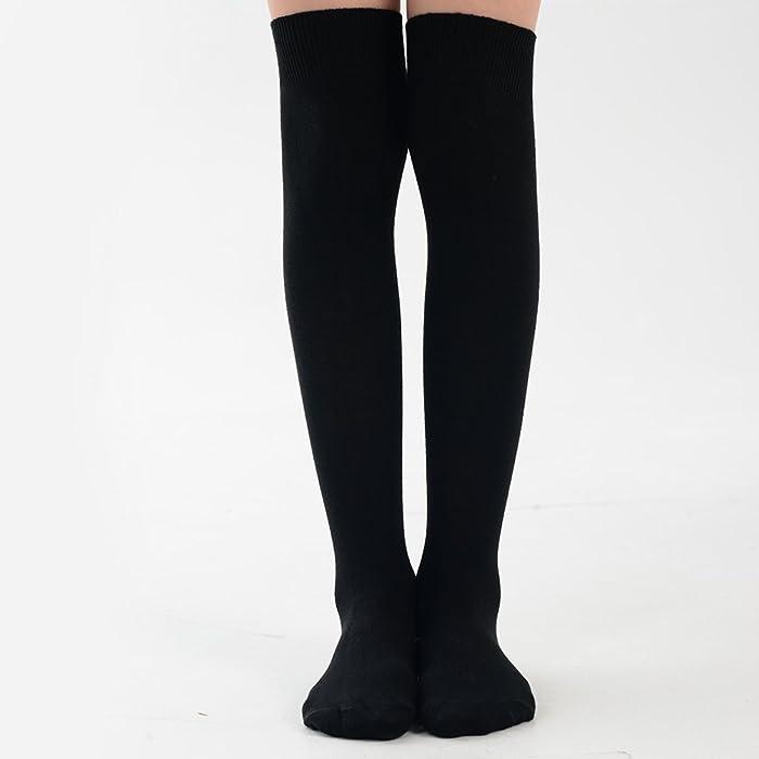 126397a1a Girls Plain Knee High School Uniform Socks in 8 Colours - UK Sizes ...