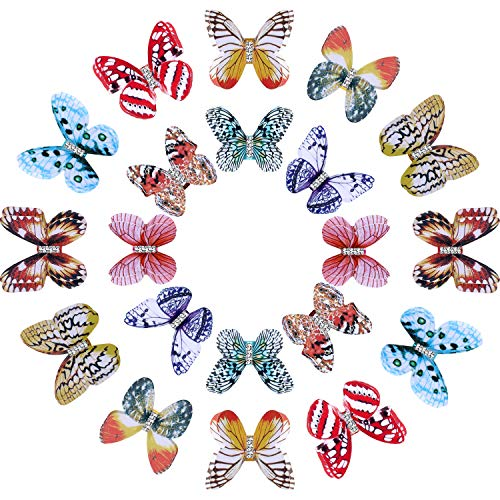 20 Pieces Butterfly Dreadlocks Beads Hair Cuffs Clips Rings Colorful Braiding Hair Jewelry for Women Girls Hair…