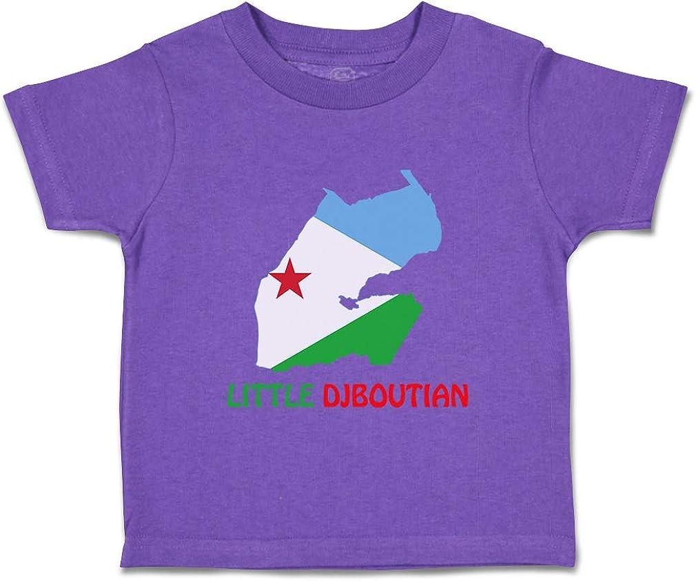 Custom Baby /& Toddler T-Shirt Little Djiboutian Cotton Boy Girl Clothes