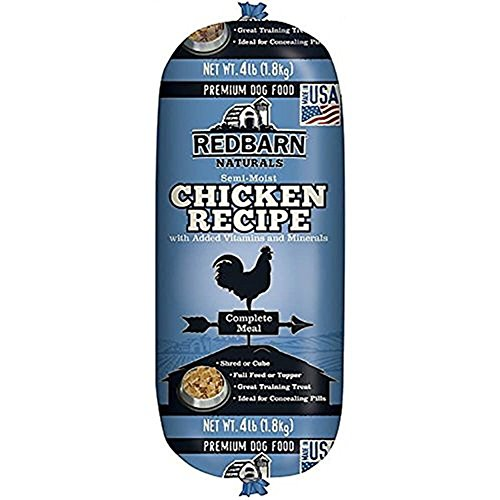Redbarn Pet Products Chicken and Liver Food Roll, Net Weight 4 lbs (Happy Pet Food)