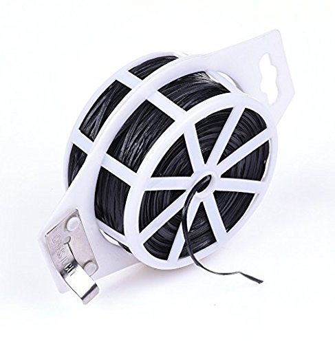 - 328 Feet (100m) Green Multi-Function Sturdy Garden Plant Twist Tie with Cutter Cable Tie Zip Tie black