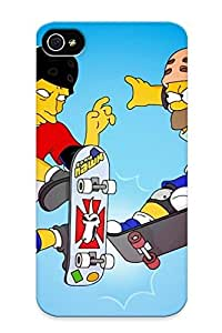 Appearance Snap-on Case Designed For Iphone 4/4s- Tony Hawk And Homer (best Gifts For Lovers) by lolosakes